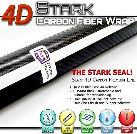 "*60/""x84/"" 4D Gloss Gary Carbon Fiber Vinyl Wrap Sticker Bubble Free Air Release"
