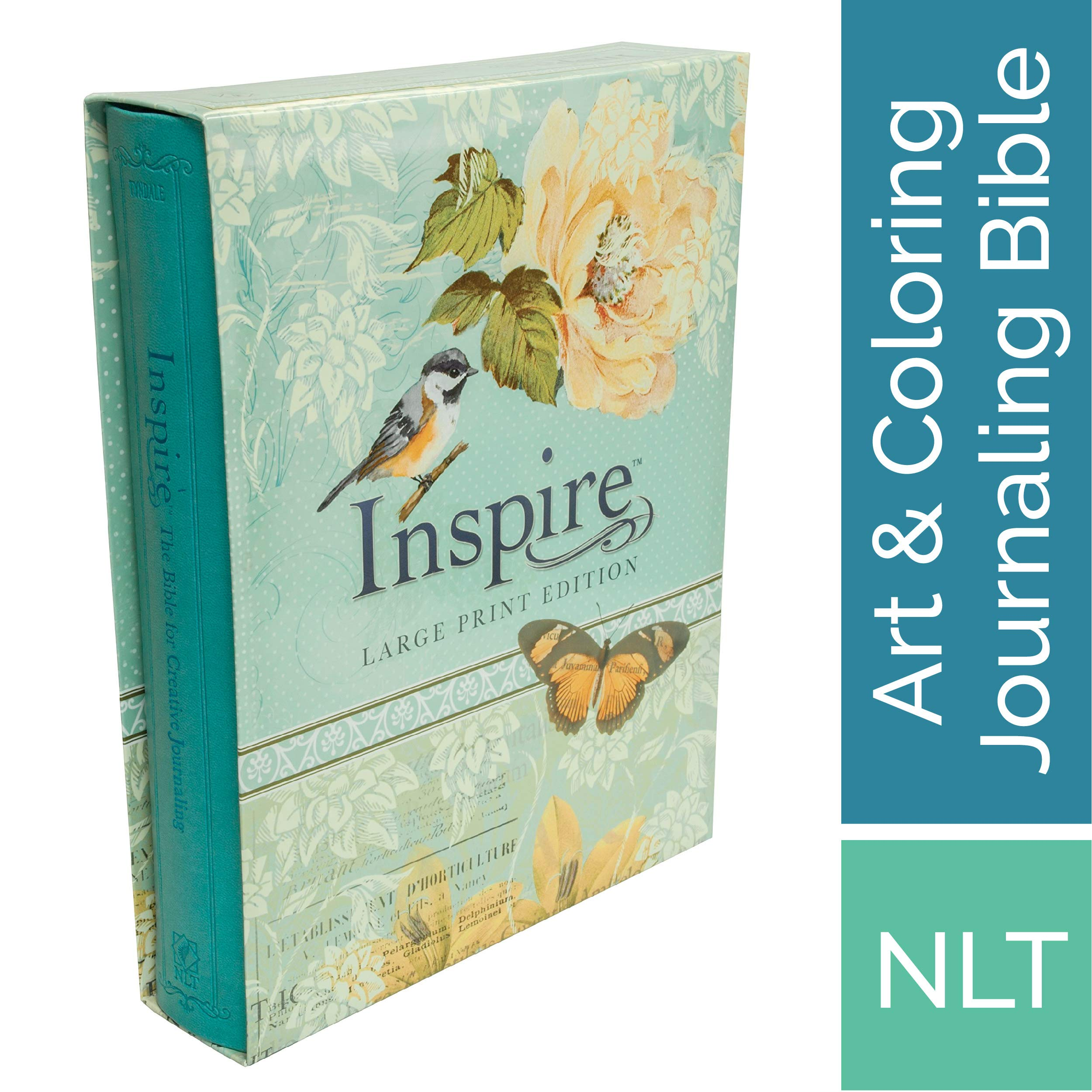 Tyndale NLT Inspire Bible (Large Print, Hardcover, Tranquil Blue
