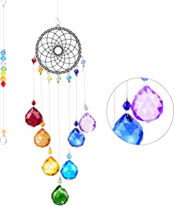 VAINECHAY Suncatcher Rainbow Crystal Ball Glass - Window Hanging Ornaments Garden Suncatchers Outdoor Decorations Rainbow Marker Sun Catcher Crystal Balls Prism Pendant Gift for Car Home Windows Decor
