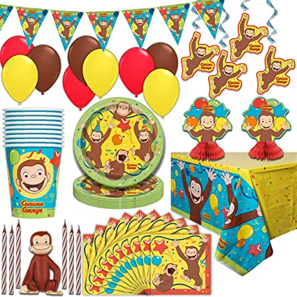 Amazon.com: Curiosos suministros de fiesta de George sirve ...