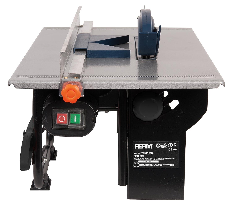 Ferm TSM1032 Sierra de Mesa (800 W, 200 mm), 230 V, Set de 6 Piezas: Amazon.es: Bricolaje y herramientas