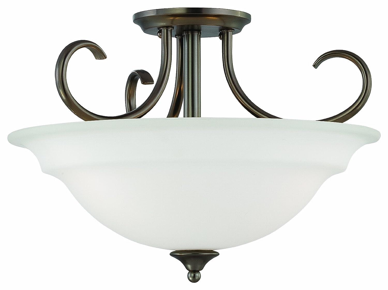 sale retailer 7fa2c 38a15 Thomas Lighting SL860715 Bella Collection 3 Light Convertible Semi-Flush  Ceiling Light, Oiled Bronze