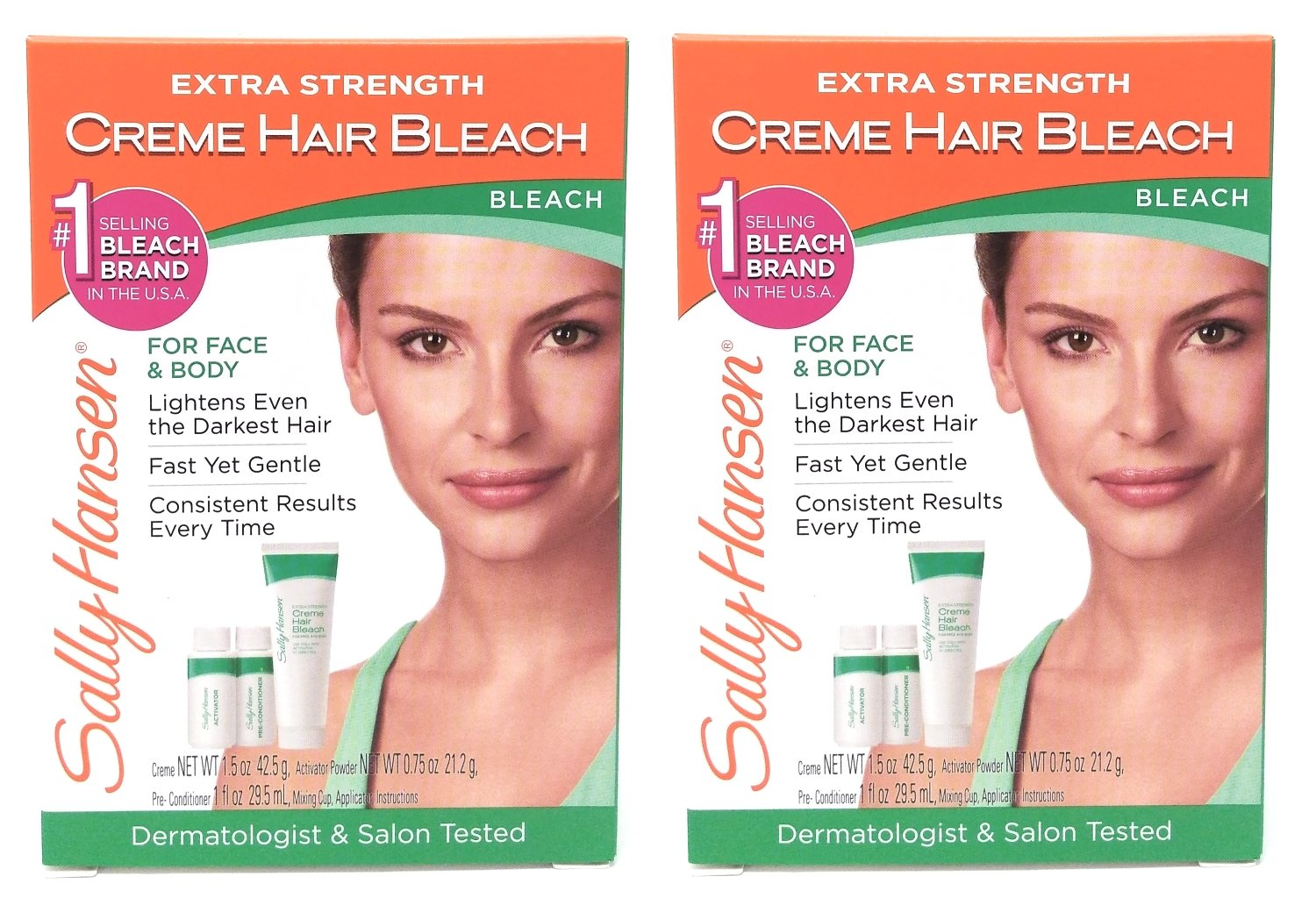 Sally Hansen Creme Bleach Xtra Strength Face & Body (2 Pack) 2010