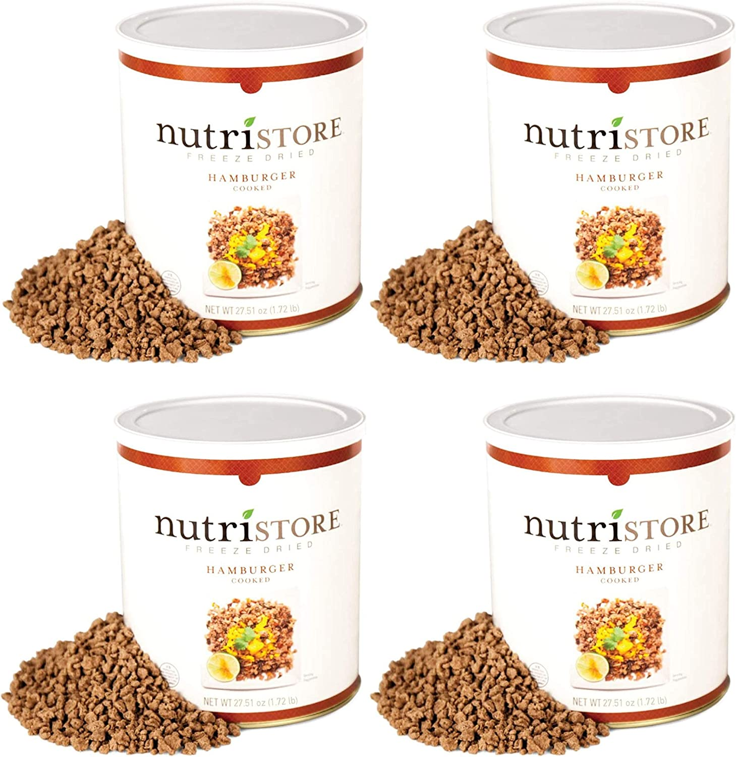 Nutristore Freeze-Dried Ground Beef | Emergency Survival Bulk Food Storage | Premium Quality Meat | Perfect for Lightweight Backpacking, Camping, or Home Meals | USDA Inspected | 25-Year Shelf Life