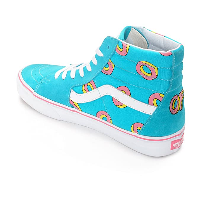 596d804e236ebf Vans x Odd Future Sk8-Hi of Donut Sneakers (Scuba Blue) Golf Wang Shoes   Amazon.ca  Shoes   Handbags