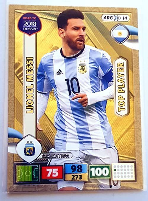 PANINI ADRENALYN XL ROAD TO 2018 FIFA WORLD CUP RUSSIA Lionel Messi Top Player Trading Card - Argentina: Amazon.es: Deportes y aire libre