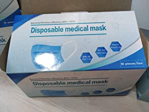 50pcs Anti-Dust Safe and Breathable Face Masks Respirator Nail Medical Dental Disposable Ear Face Surgical Hypoallergenic