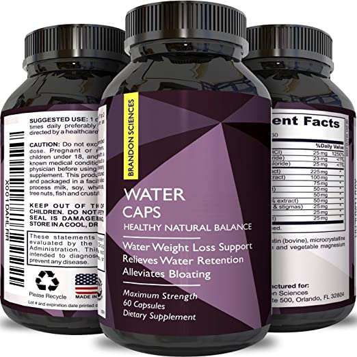 Natural Water Away Pills with Dandelion – Pure Diuretic Supplement for Water Retention + Bloating Relief – Best Weight Loss with Green Tea + Potassium – Dietary Supplement for Men & Women By Opti Natural