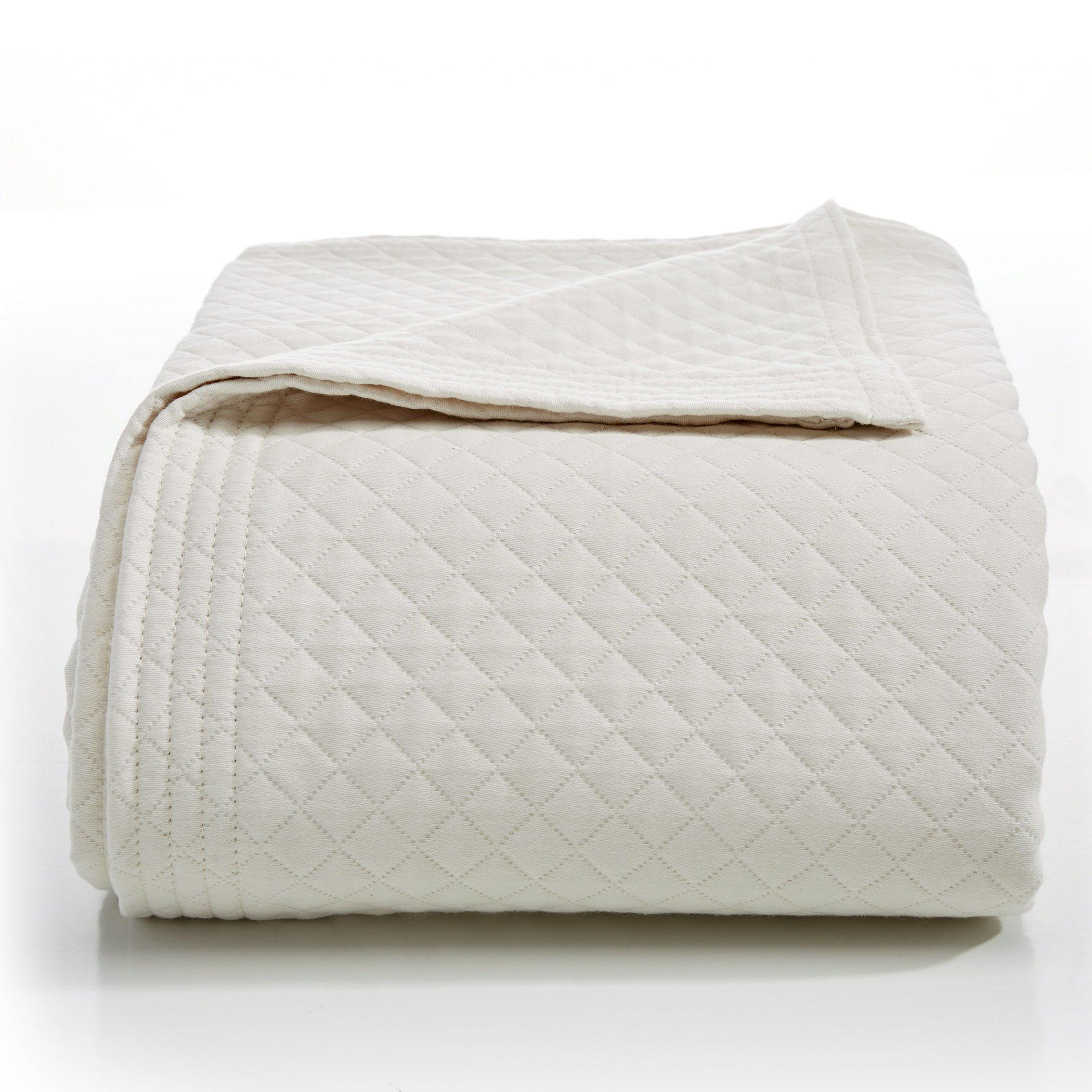 Lamont Home Diamante Collection – 100% Cotton Matelassé Coverlet by Lamont Home
