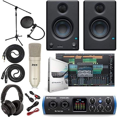 Amazon.com: PreSonus Studio 24c 2x2 USB Type-C interfaz de ...