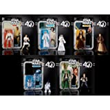 Star Wars The Black Series 40th Anniversary 6 Inch Figure Wave 1 Set Of 5
