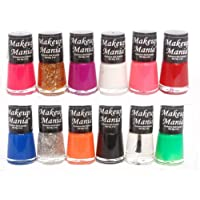 Makeup Mania Trendy Colors Nail Polish Enamel Combo (Multicolor No.73, Pack of 12)