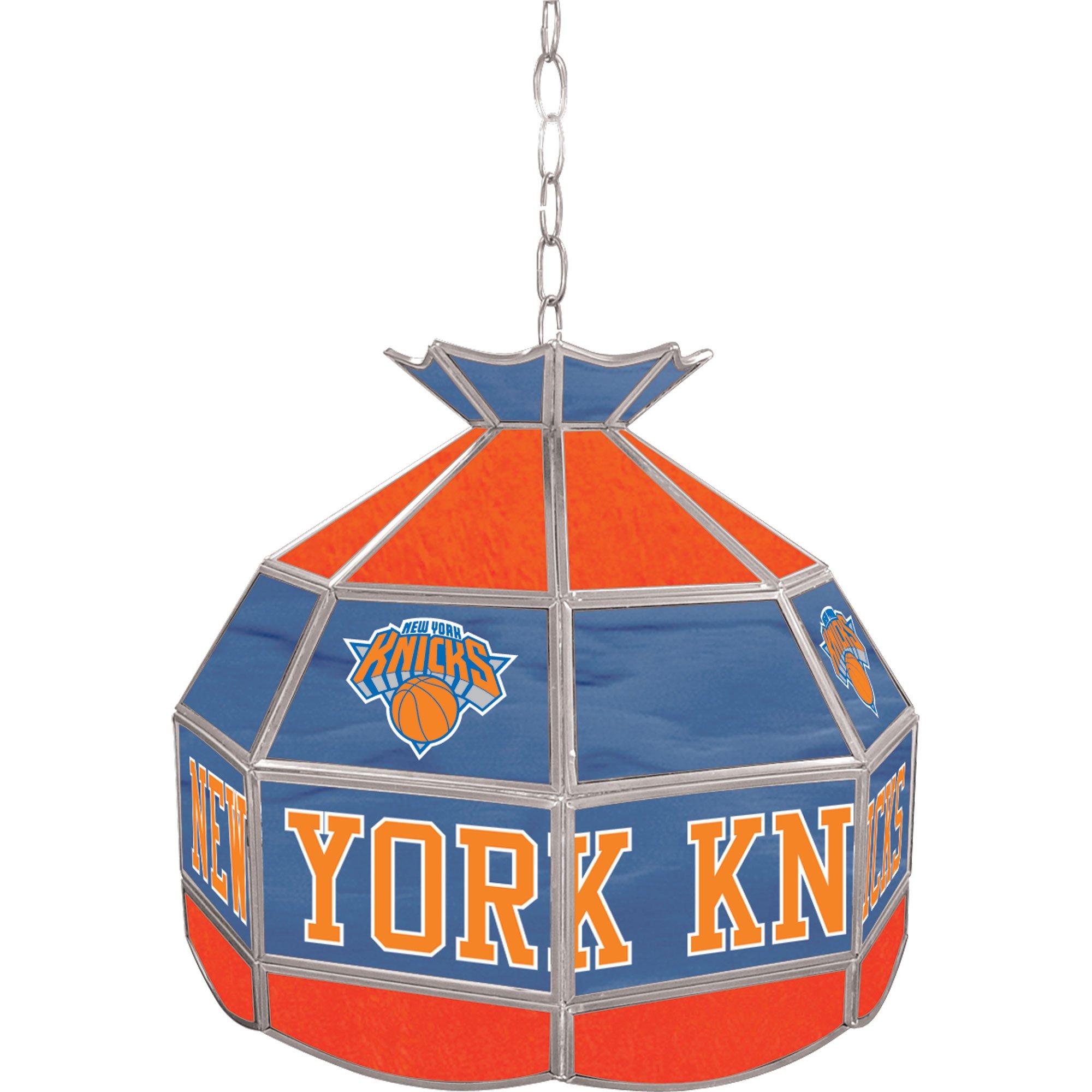 NBA New York Knicks Tiffany Gameroom Lamp, 16'' by Trademark Gameroom