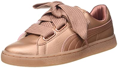 puma basket heart damen rosa