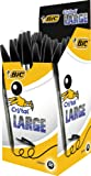 BIC Cristal Large Ball Pen with 1.6 mm Tip - Black, Box of 50