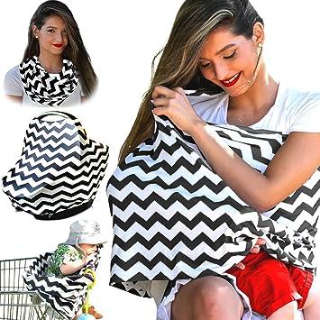 Nursing Cover Breastfeeding Scarf, Baby Car Seat Canopy, Shopping Cart,  Stroller, Carseat  Nursing Cover