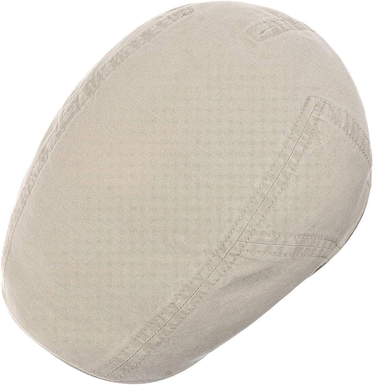 Stetson Delave Organic Cotton Ivy Cap Schirmm/ütze Schieberm/ütze Baumwollcap Herren Made in The EU Flatcap mit Schirm Fr/ühling-Sommer