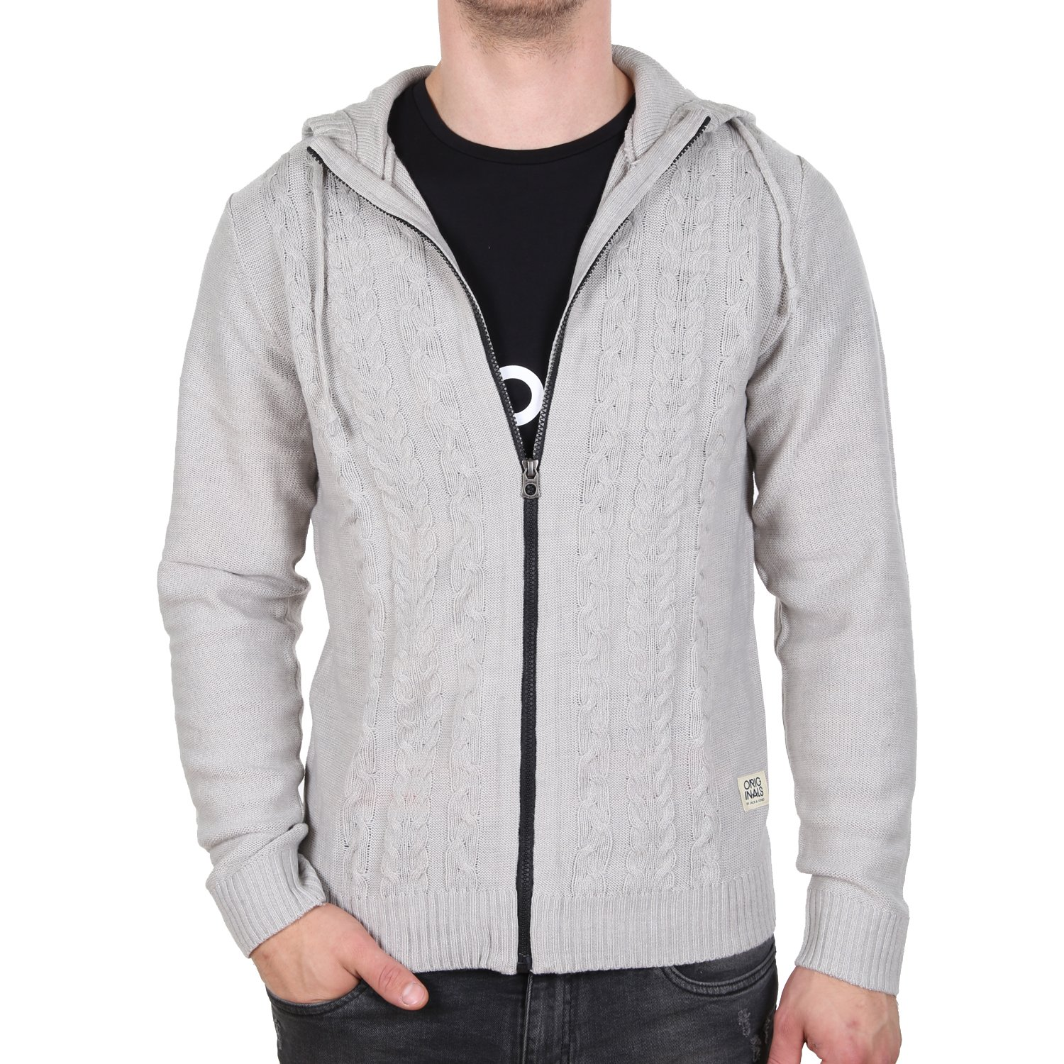 JACK & JONES Men's Cardigan Grey Grey