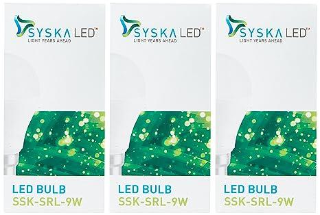 Syska B22 9 Watt Led Bulb  Pack of 3, Cool Day Light   Cool Day Light