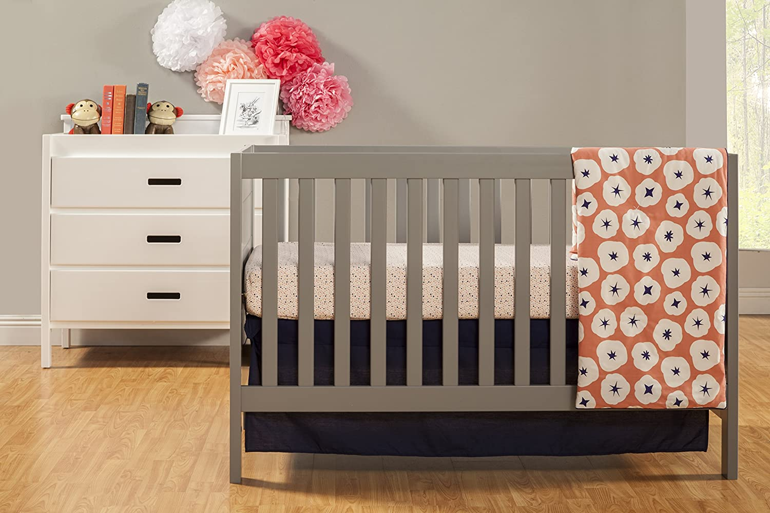 Amazon.com : Baby Mod Modena 3 In 1 Convertible Crib With Toddler Bed  Conversion Kit, Grey : Baby