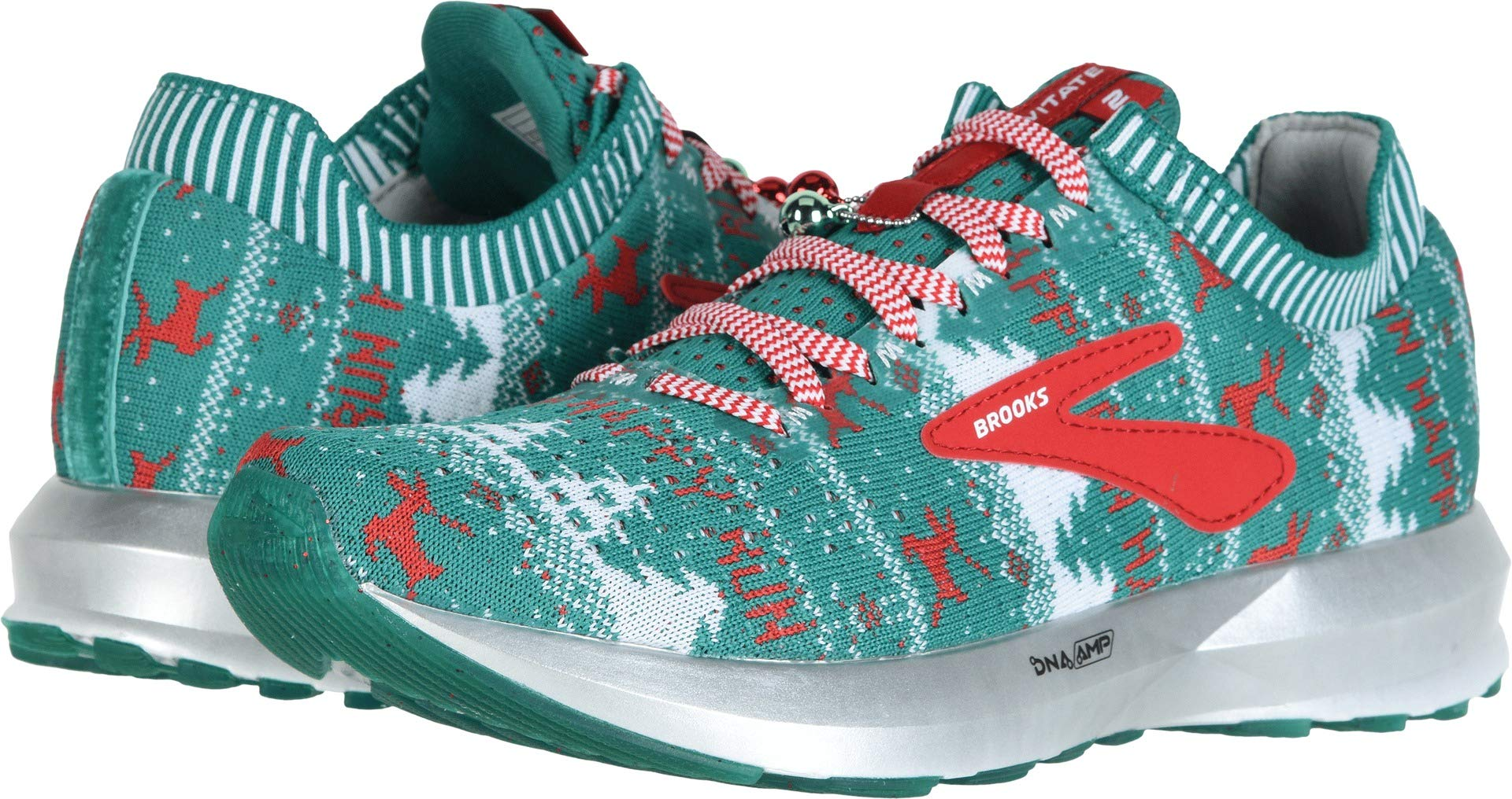 Brooks Women's Levitate 2 Green/White/Red (Holiday Edition) 5 B US