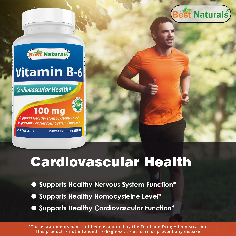 Best Naturals Vitamin B6 Tablet, 100 mg, - TiendaMIA com