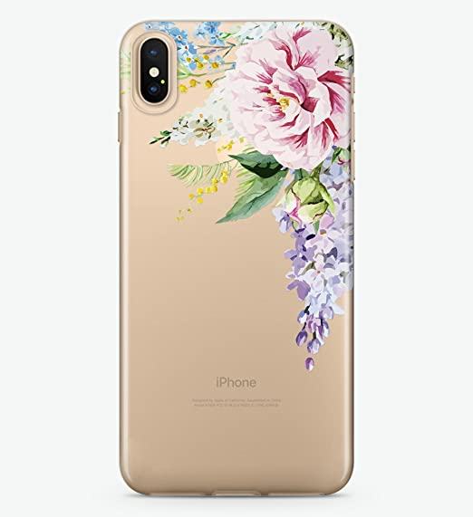 check out cafbe 9a9f0 Amazon.com: Hanogram Flowers - iPhone X Case: Cell Phones & Accessories
