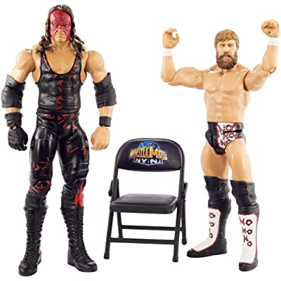 WWE Wrestlemania 2-Pack with 6-inch (15.24) Action Figures, Daniel Bryan & Kane, Multi: Toys & Games