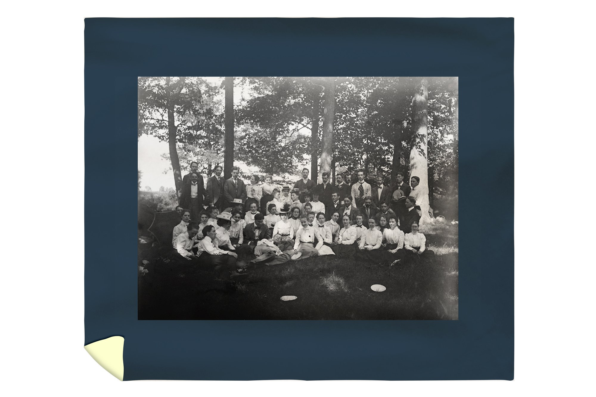 Oberlin College Class of 1898 Photograph (88x104 King Microfiber Duvet Cover)
