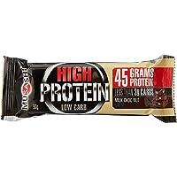 Musashi High Protein Low Carb Milk Chocolate Nut Bar, 12 x 90 Grams