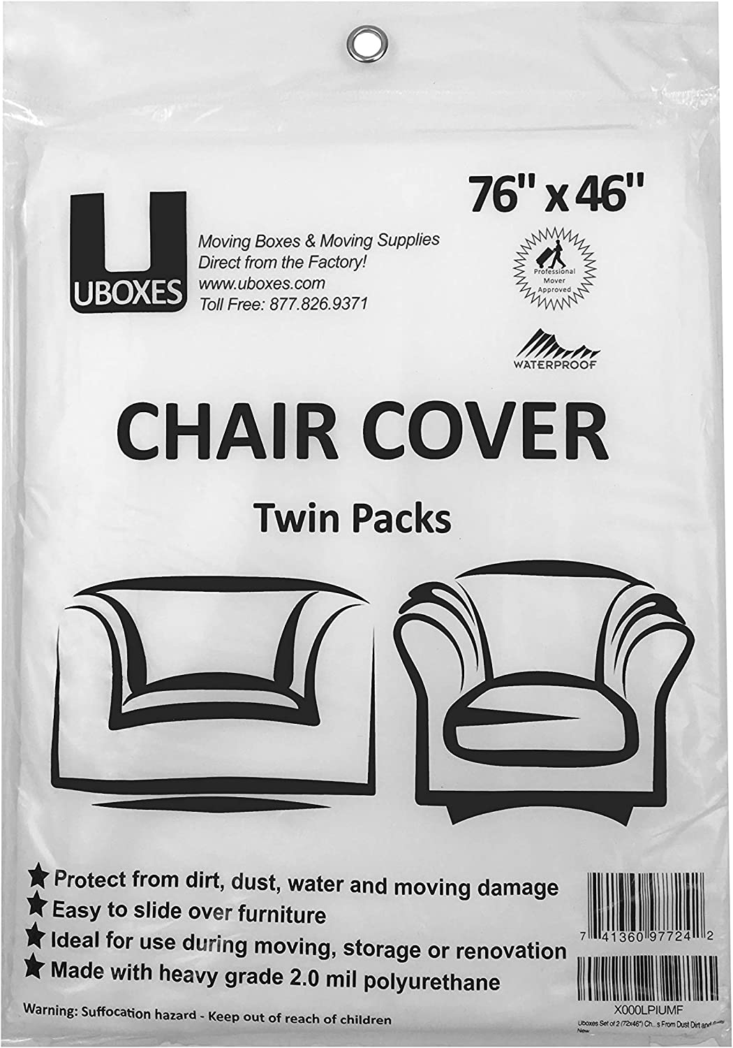 Uboxes Chair Cover - 2 Pk: Garden & Outdoor