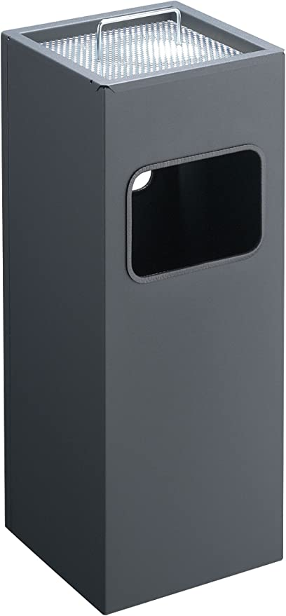 ZWJ-Poubelle /à P/édale Poubelles Ext/érieures Classification Cendrier Seau /À Cendres Public Poubelle En Acier Inoxydable Poubelle Ext/érieure Tonneau Simple Color : Black