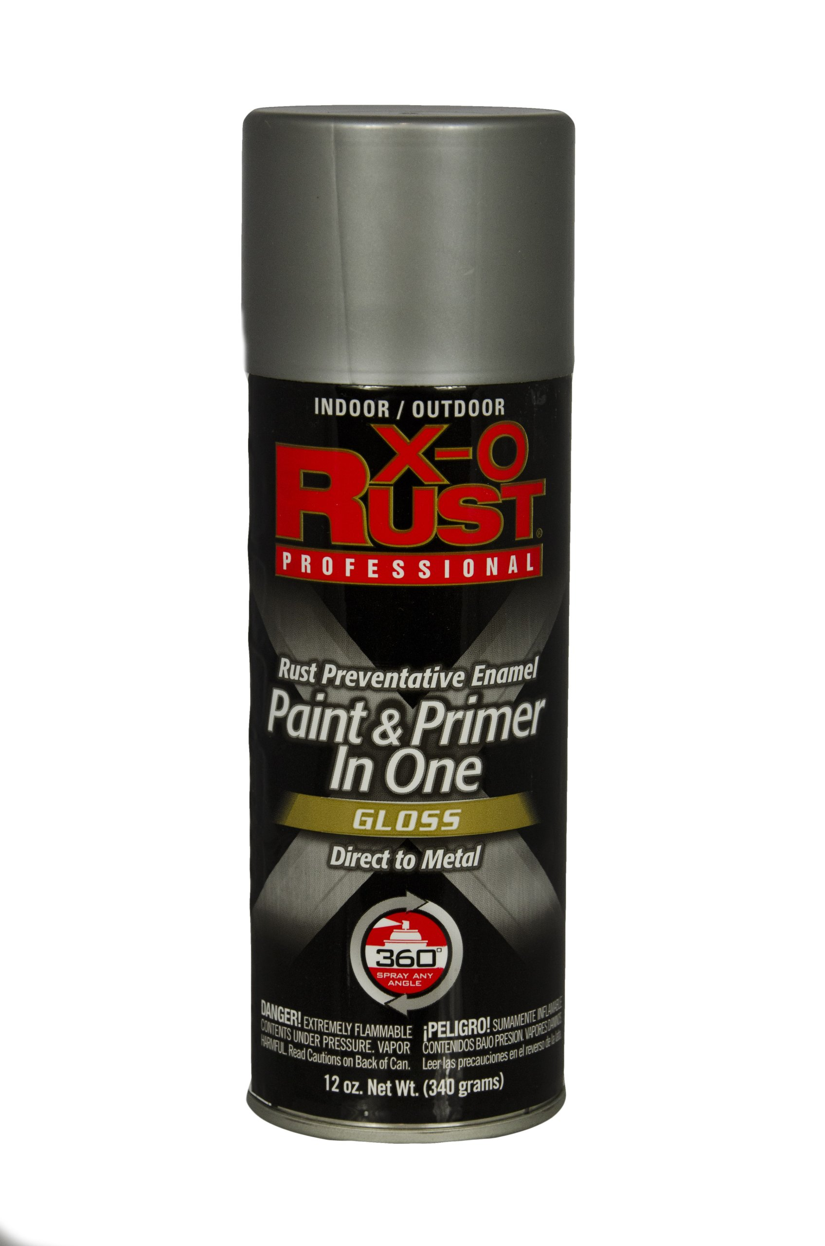 General Paint & Manufacturing XOP-10 X-O Rust Professional Rust Preventative Paint and Primer in One Spray with 360-Degree Spray Tip, Aluminum