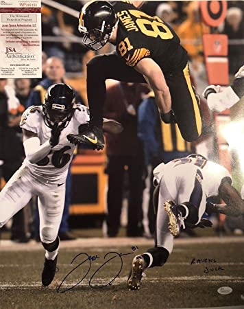 Jesse James Autographed Signed Pittsburgh Steelers 16x20 Photo  Ravens  Suck  - JSA Authentic 52ef5bdd0