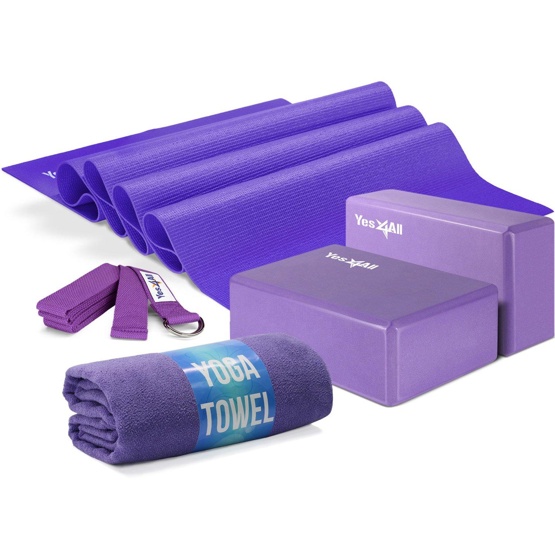 Amazon.com : Yes4All Yoga Starter Kit - Include: 2 Yoga ...