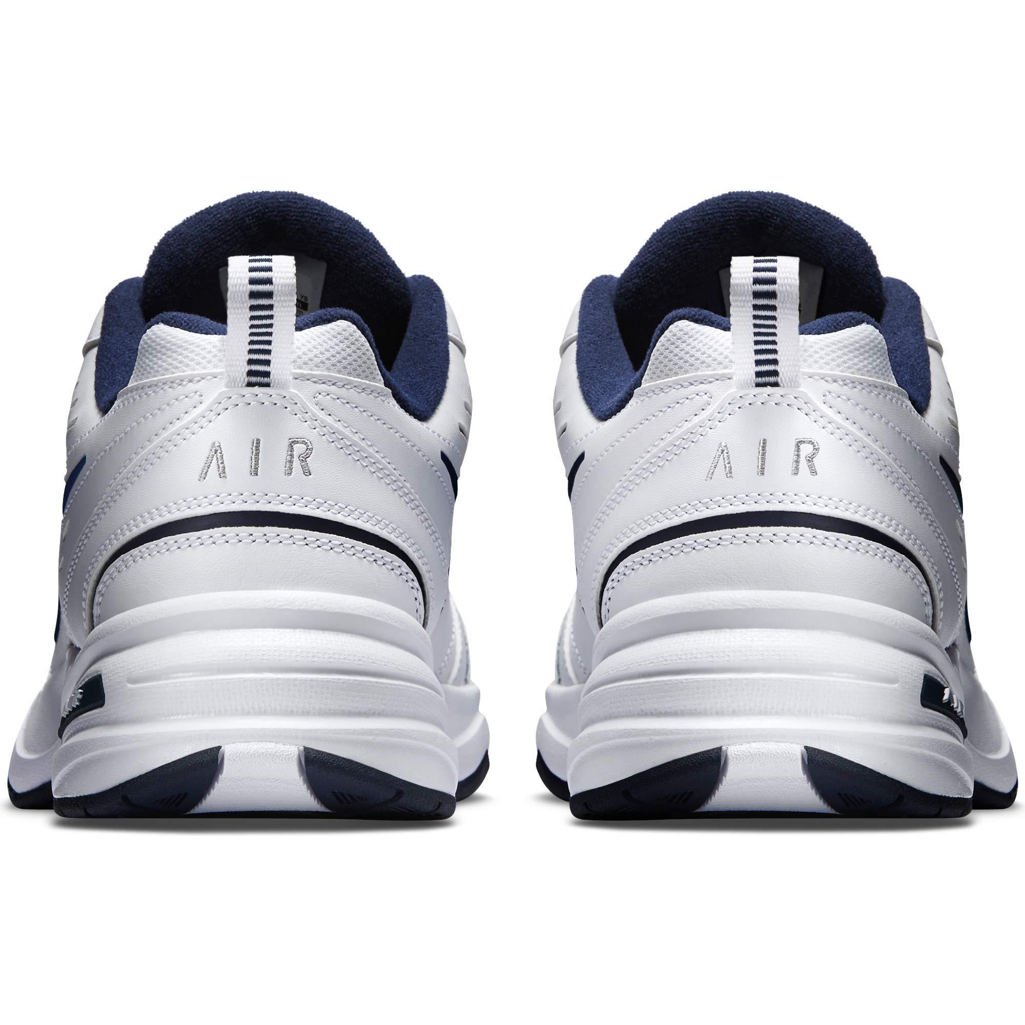 NIKE AIR MONARCH IV (MENS) - 6.5 White/Metallic Silver by Nike (Image #9)