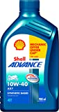Shell Advance AX7 10W-40 API SM Semi Synthetic Engine Oil (900 ml)