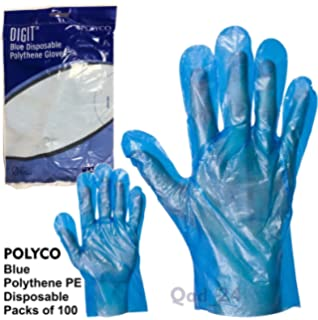Suneast 100 Pcs Disposable Plastic Polythene PE Gloves Large Size Clear Gloves for Cleaning//Prepare Food//Catering//DIY Hair Dye