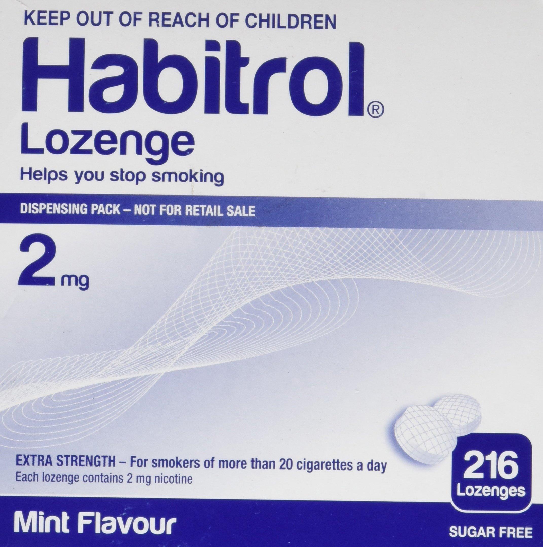 Habitrol Nicotine Lozenge Mint Flavor 216 Lozenges (2mg) by Novartis