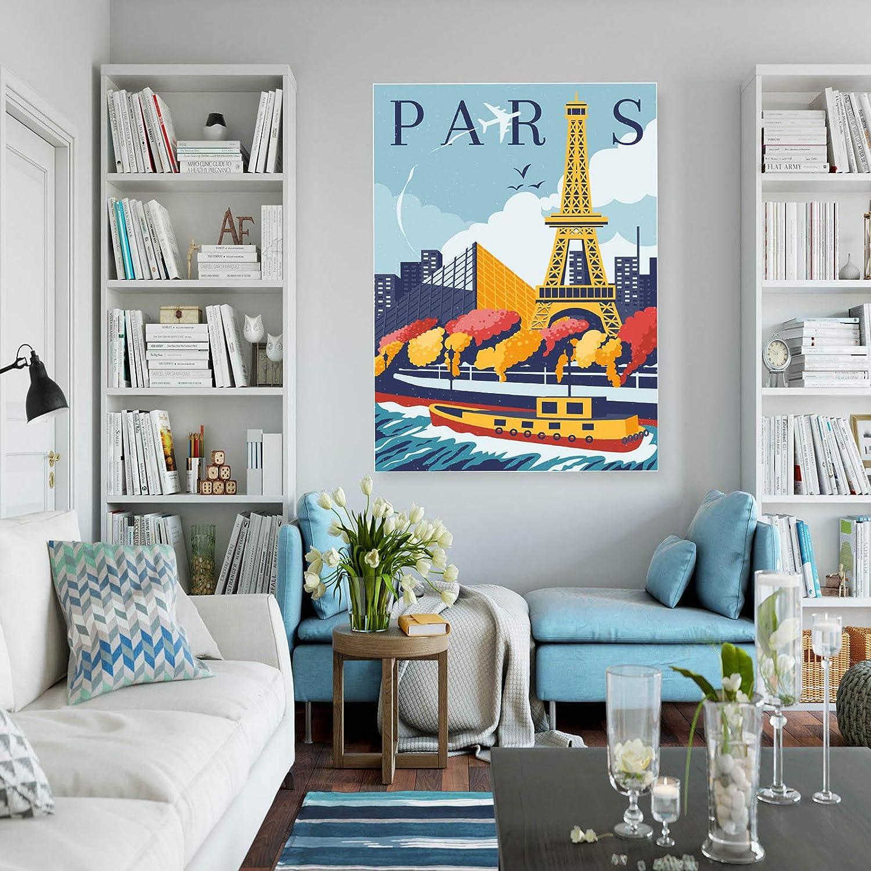 INNOGLEN Paris France Retro A0 A1 A2 A3 A4 Affiche Photo en Satin a5030h