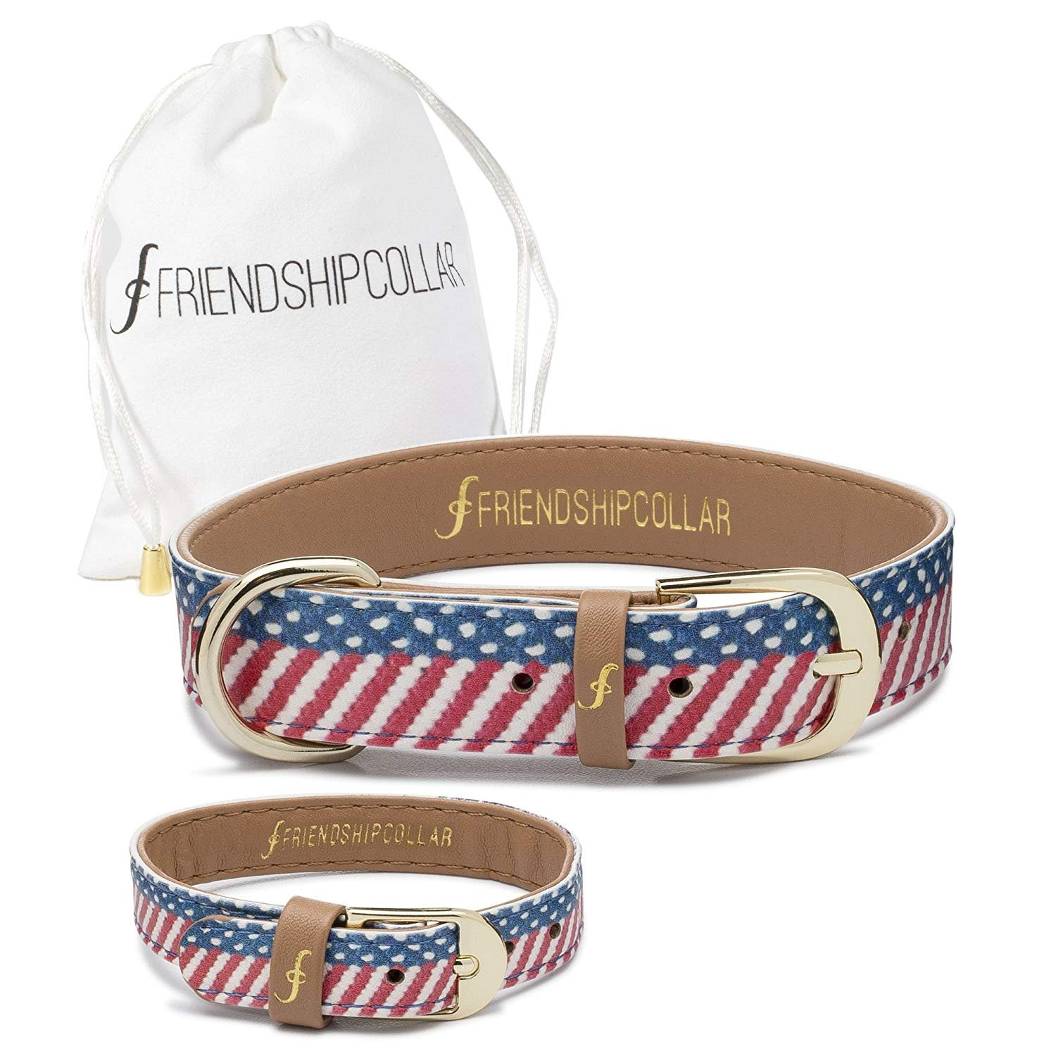 FriendshipCollar Dog Collar and Friendship Bracelet - The Presidential Dog - Small