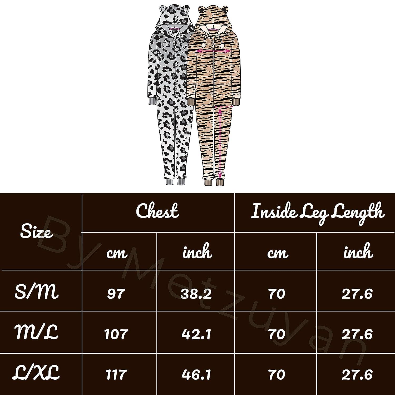 Metzuyan Tuta Intera da Donna con Giraffa Leopardata e Tigre Leopard 2 M//L