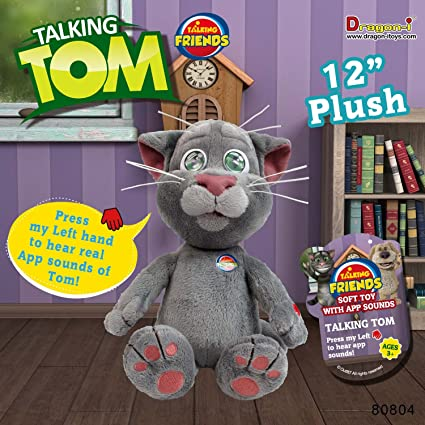 Amazon Com Dragon I Toys Talking Tom Plush Toys Games