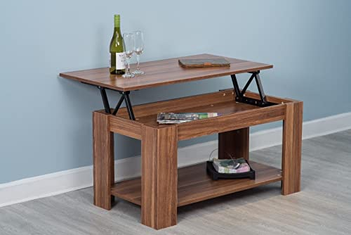 Home Source Caspian Lift Top Coffee Table with Storage and ...