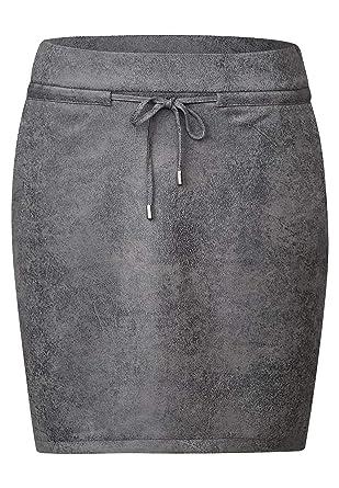 Street One - Falda - para Mujer Quiet Grey 46: Amazon.es: Ropa y ...