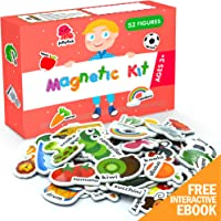 X-bet MAGNET Foam Magnets for Toddlers - Refrigerator Magnets for Kids - Baby Magnets for Refrigerator and Whiteboard with Zoo and Farm Animals - Educational Magnetic Toys - Ideal for Kids!