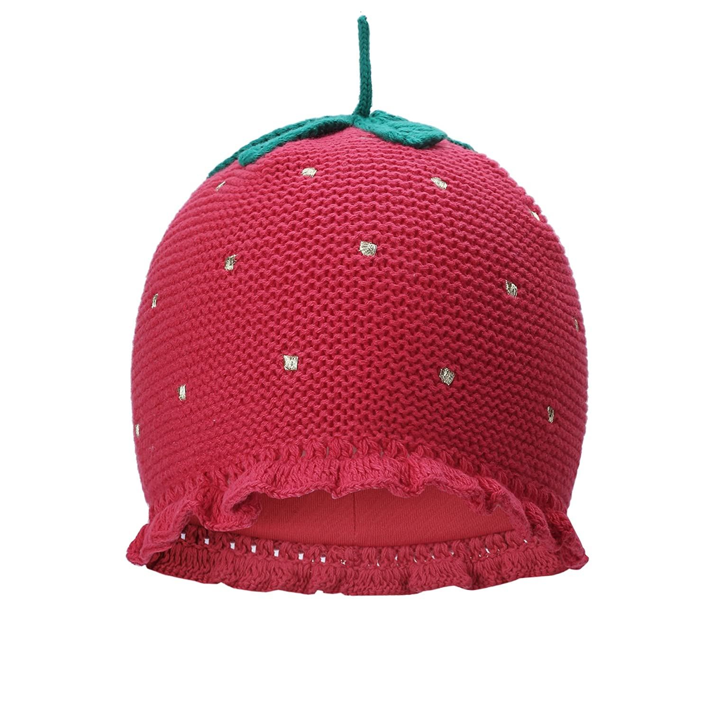 vivobiniya Toddler Girl Winter Lovely Strawberry Knitted Cap Baby Winter Hats 0-6Y