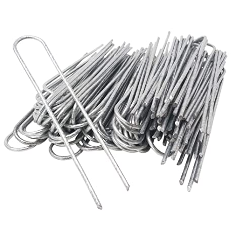 20 Hooked ground hooks for securing weed control fabrics and garden fleece