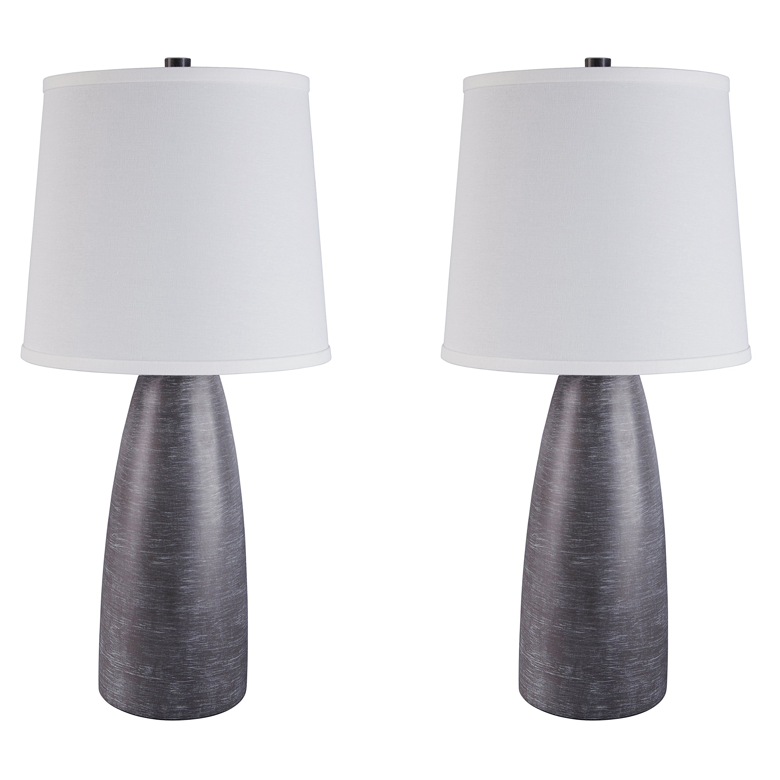 Ashley Furniture Signature Design - Shavontae Table Lamps - Set of 2 - Modern - Contemporary - Gray