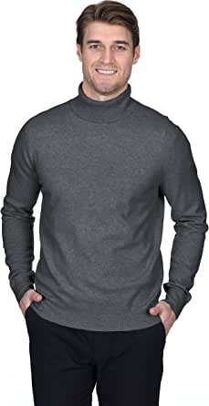 State Fusio Men's Cashmere Wool Turtleneck Long Sleeve Pullover Sweater Premium Quality